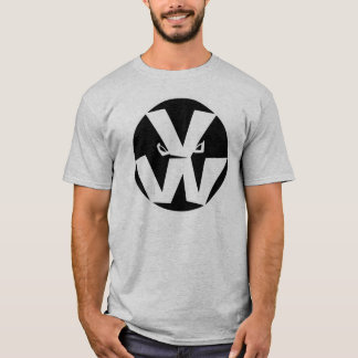 Camiseta O vegetal guerreia logotipo no cinza