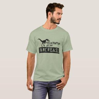 Camiseta O Velociraptor comeu meu serif da silhueta do