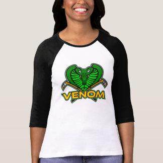 Camiseta O veneno das mulheres 3/4 de t-shirt das capas