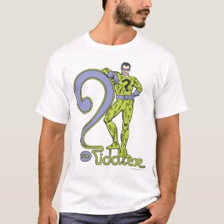 Camiseta O verde de Riddler & de logotipo