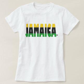 Camiseta O verde do preto do ouro de Jamaica listra o