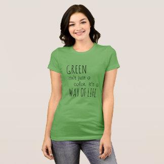 Camiseta O verde é um t-shirt do modo de vida