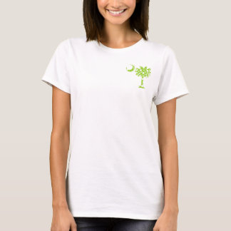 Camiseta O verde limão pontilha o Palmetto do bolso