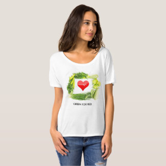 Camiseta O verde para o vermelho, impulsiona sua saúde