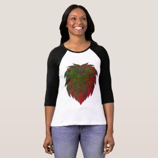 Camiseta O vermelho do leão & verde principais