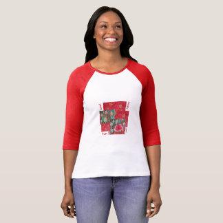 """Camiseta O vermelho longo das capas imprimiu o t-shirt """"a"""
