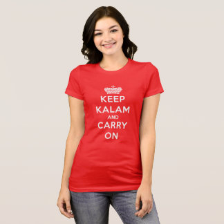 Camiseta O vermelho mantem Kalam calmo e continua o t-shirt