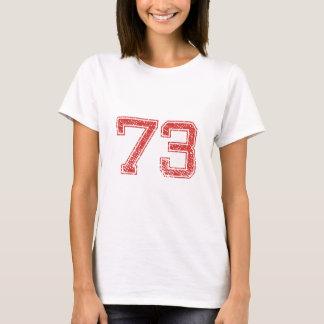 Camiseta O vermelho ostenta Jerzee número 73