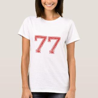 Camiseta O vermelho ostenta Jerzee número 77