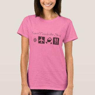 Camiseta O viagem alimenta a alma - t-shirt