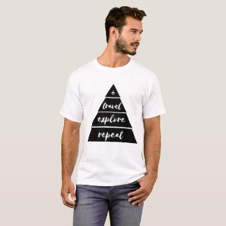 Camiseta O viagem explora o t-shirt da repetição