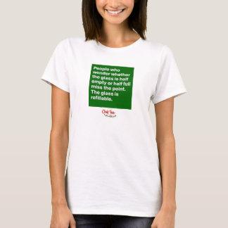 Camiseta O vidro é T inspirado recarregável das citações