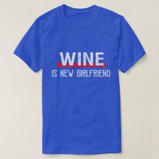 Camiseta O vinho é dia dos namorados engraçado do namorada