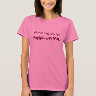 Camiseta o vinho melhora com piada da idade