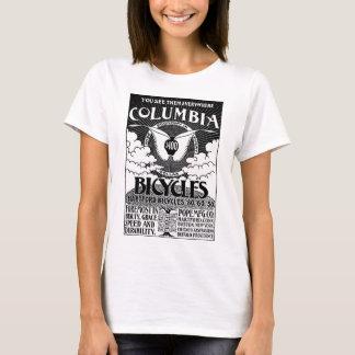 Camiseta O vintage Colômbia Bicycles a propaganda