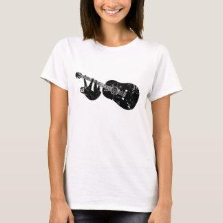 Camiseta O vintage denominou o T da guitarra da preguiça