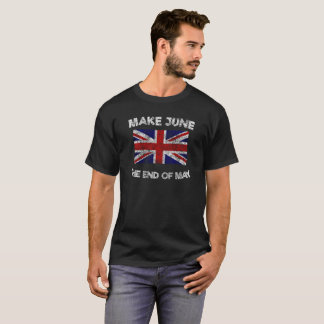 Camiseta O vintage faz a junho o t-shirt do fim de maio