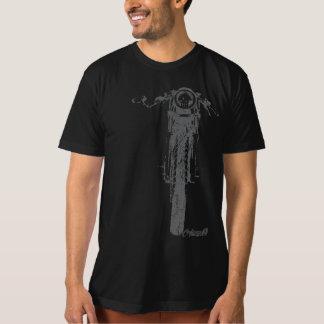 Camiseta O vintage frontal do piloto do café denominou a