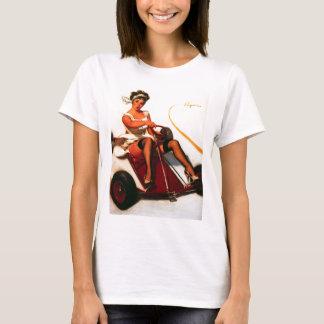 Camiseta O vintage Gil retro Elvgren vai Pin de Kart acima