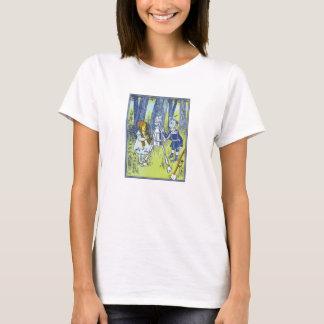 Camiseta O vintage mágico de Oz Dorothy encontra o homem da