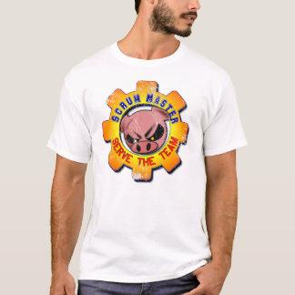 Camiseta O vintage mestre do scrum - servir a equipe