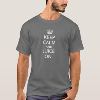 Camiseta O vintage retro mantem a calma e o suco sobre!