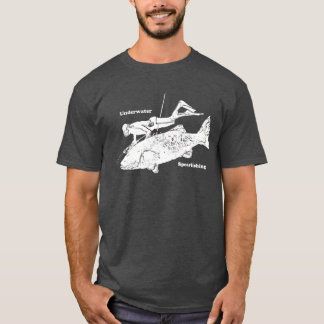 Camiseta O vintage Spearfishing subaquático livra o