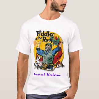 Camiseta o violinista, anjo exprime produções