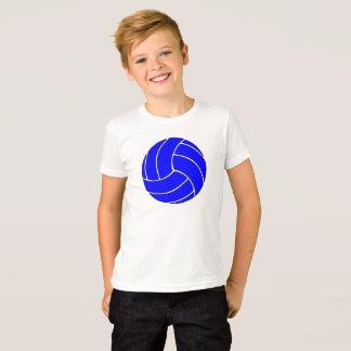 Camiseta O voleibol azul simples caçoa o t-shirt