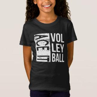 Camiseta O voleibol unisex do ás caçoa o T (o preto)