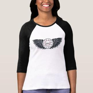 Camiseta O voleibol voa o t-shirt do Raglan