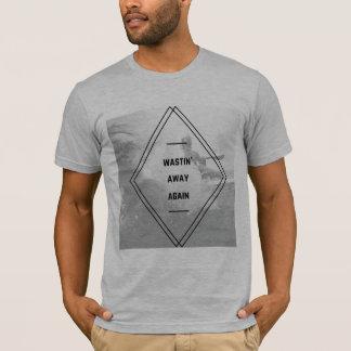 Camiseta O Wastin dos homens afastado Tee outra vez