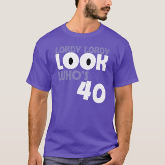 Camiseta O WHO do OLHAR de LORDY LORDY é T de 40
