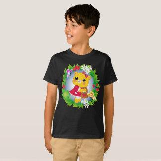 Camiseta O Xmas alegre bonito do urso caçoa T=Shirt