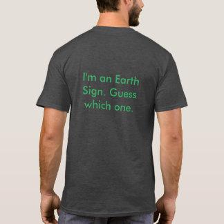 Camiseta O zodíaco assina sinais da terra do t-shirt