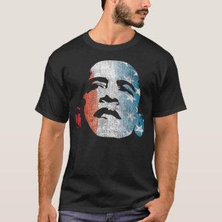 Camiseta Obama 2012 brancos vermelhos e azuis