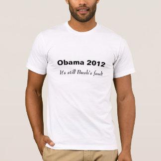 Camiseta Obama 2012, é ainda a falha de Bush