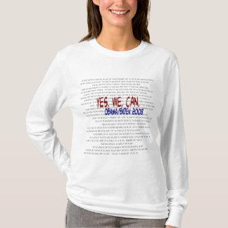 Camiseta Obama/Biden - sim nós podemos discurso