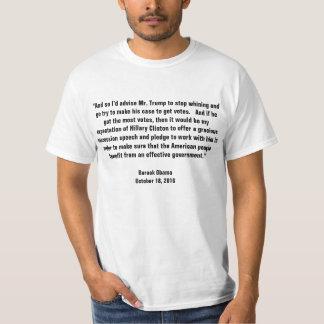 Camiseta Obama diz o trunfo para parar de lamentar-se