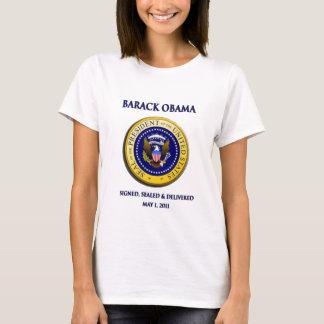 Camiseta Obama obteve Osama assinado selado & entregado