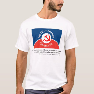 Camiseta Obama para a mudança - homens