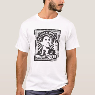 Camiseta OBAMA para o vintage T da mudança