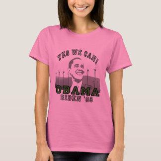 Camiseta Obama sim nós podemos por muito tempo Sleeve a