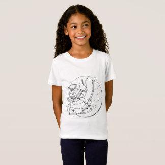 Camiseta Obcecado com o t-shirt do jérsei das meninas de