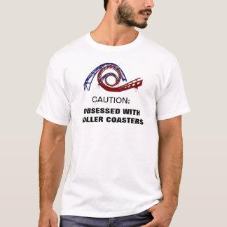 Camiseta Obcecado com t-shirt da montanha russa