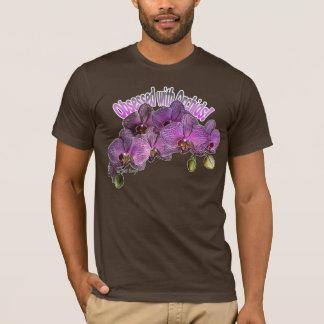 Camiseta Obcecado com t-shirt das orquídeas