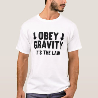 Camiseta Obedeça a gravidade. É a lei