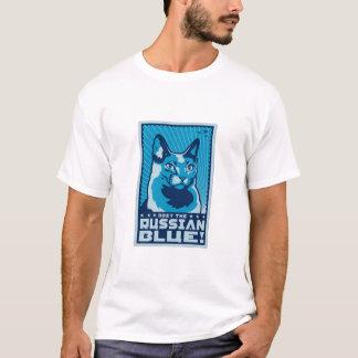 Camiseta Obedeça o azul do russo
