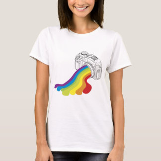 Camiseta Objectiva do arco-íris