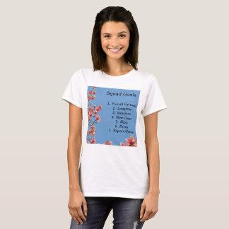 Camiseta Objetivos do pelotão, meninas, adolescentes,
